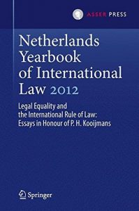 Netherlands Yearbook Of International Law  Legal Equality And  Project Navigation